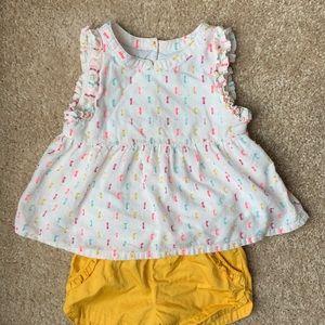 Genuine Kids OshKosh Girls' Sprinkles Top & Shorts